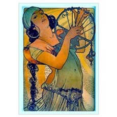 Alphonse Mucha Wall Art Poster