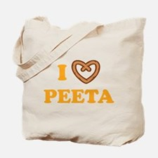 HG I love Peeta Tote Bag