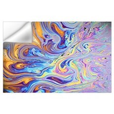 Soap film, colors are due to interference between Wall Decal