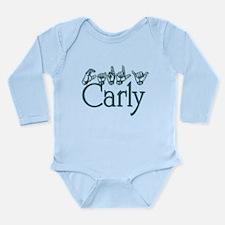 Carly-teal Long Sleeve Infant Bodysuit
