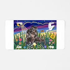 MoonGarden-Shih Tzu (blk) Aluminum License Plate