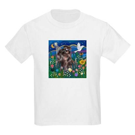 MoonGarden-Shih Tzu (blk) Kids Light T-Shirt
