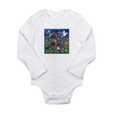 MoonGarden-Shih Tzu (blk) Long Sleeve Infant Bodys