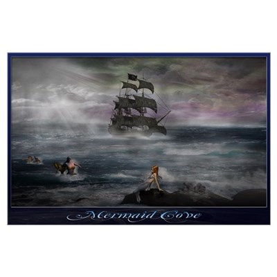 Mermaid Cove Wall Art Poster