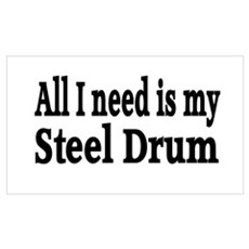 Steel Drum Wall Art Poster