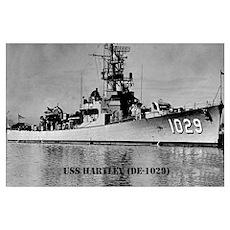 USS HARTLEY Wall Art Poster