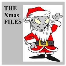 area 51 christmas with aliens Wall Art Framed Print