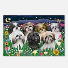 7 Shih Tzu Cuties Postcards (Package of 8)