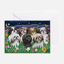 7 Shih Tzu Cuties Greeting Cards (Pk of 10)