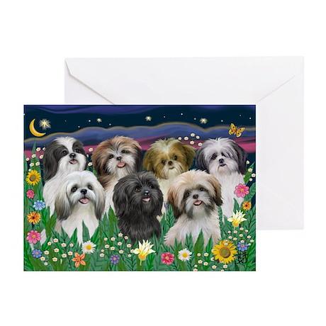 7 Shih Tzu Cuties Greeting Cards (Pk of 20)