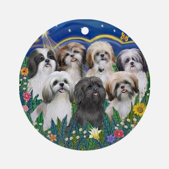 7 Shih Tzu Cuties Ornament (Round)