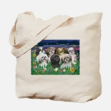 7 Shih Tzu Cuties Tote Bag