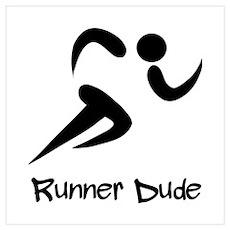Runner Dude Wall Art Poster