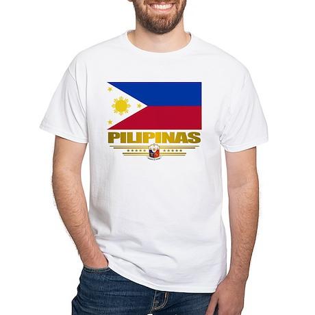 """""""Pilipinas"""" White T-Shirt"""