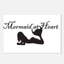 Mermaid at Heart (white) Postcards (Package of 8)