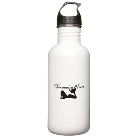 Mermaid at Heart (white) Stainless Water Bottle 1.