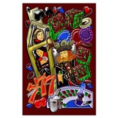 Wall Art Royal Heart Flush, Casino Art Poster