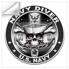 USN Navy Diver ND Skull Don't Wall Art Wall Decal