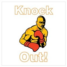 Knock Out Boxing Wall Art Poster