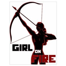 Katniss Girl on Fire Wall Art Poster