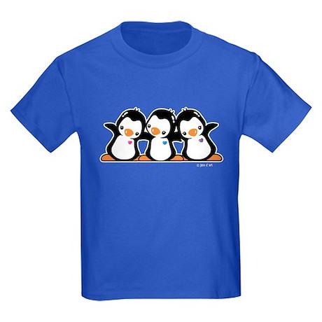 Penguins (together) Kids Dark T-Shirt