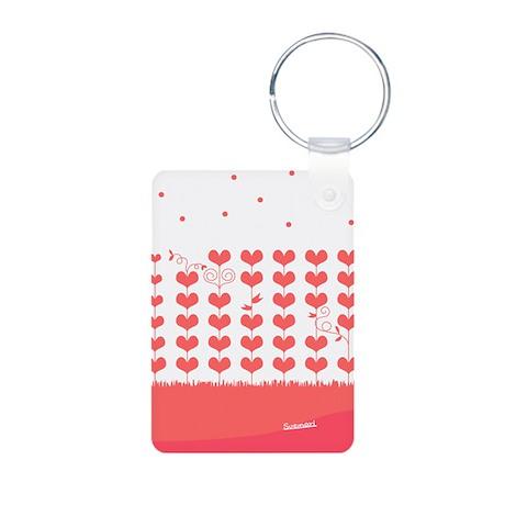 Heart Tree Aluminum Photo Keychain