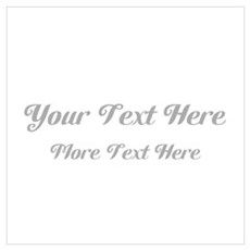 Elegant Gray Custom Text. Wall Art Poster
