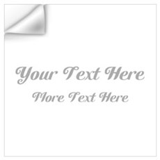 Elegant Gray Custom Text. Wall Art Wall Decal