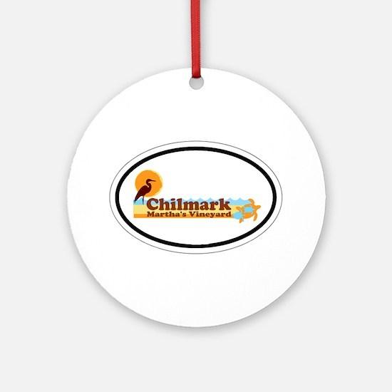 Chilmark MA - Oval Design. Ornament (Round)