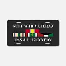 J.F. Kennedy Gulf War Veteran Aluminum License Pla
