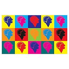 Psychology Pop Art Wall Art Poster