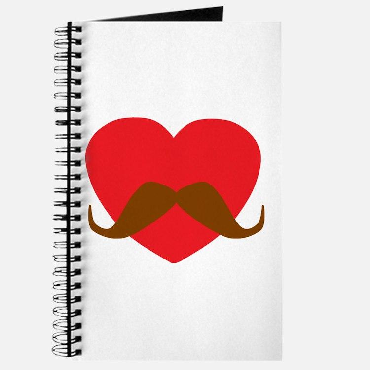 Red Heart Mustache Journal