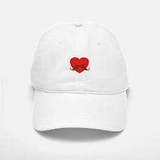 Red Heart Mustache Baseball Baseball Cap