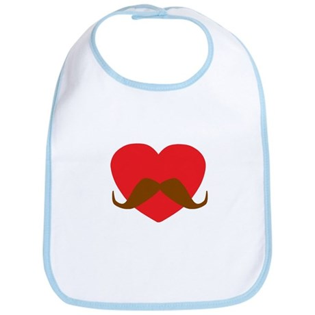 Red Heart Mustache Bib
