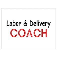 Labor & Delivery Coach Wall Art Poster