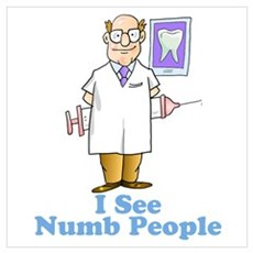 I See Numb People Wall Art Poster