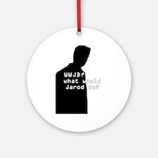 WWJD? sil Ornament (Round)