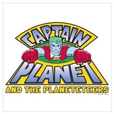 Captain Planet Logo Wall Art Poster