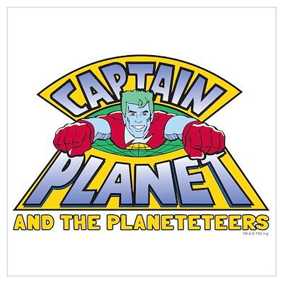 Captain Planet Logo Wall Art Poster