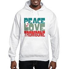Peace Love Trombone Jumper Hoody