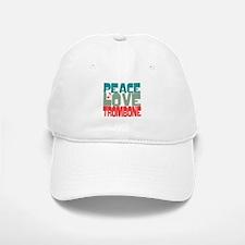 Peace Love Trombone Baseball Baseball Cap
