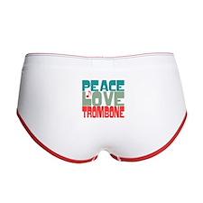 Peace Love Trombone Women's Boy Brief