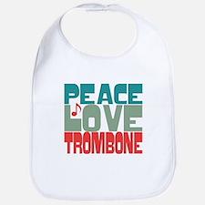 Peace Love Trombone Bib