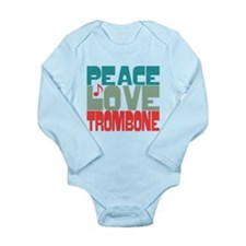 Peace Love Trombone Long Sleeve Infant Bodysuit