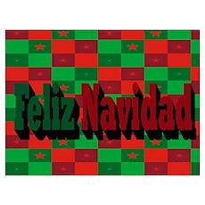 Feliz Navidad Wall Art Poster