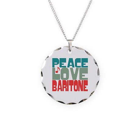 Peace Love Baritone Necklace Circle Charm