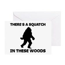 There's a Squatch in these wo Greeting Card