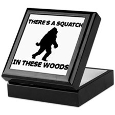 There's a Squatch in these wo Keepsake Box