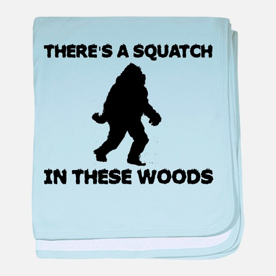 There's a Squatch in these wo baby blanket