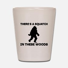 There's a Squatch in these wo Shot Glass